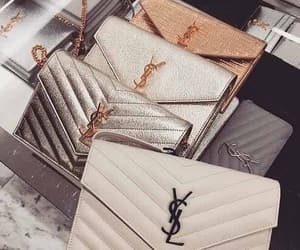 fashion, silver golden, and ysl bag image