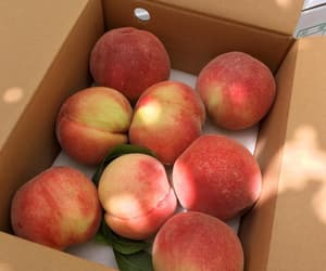 food, peaches, and summer image