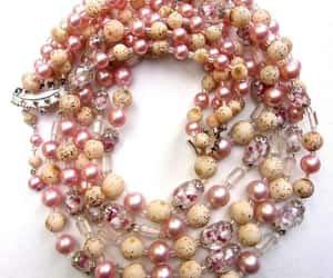 bead necklace, beads, and etsy image