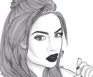 drawn, hairstyles, and makeup image