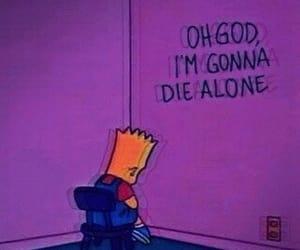 alone, simpsons, and sad image