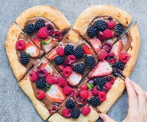 food, fruit, and heart image