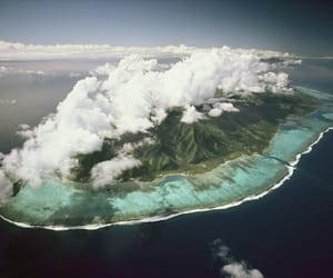Island, nature, and ocean image
