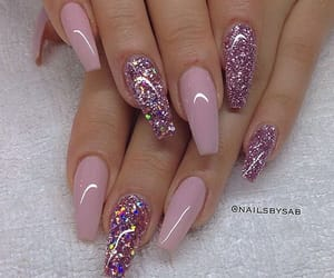 glitter, nails, and gel nails image