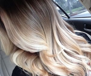 beautiful, hairstyle, and ombre image