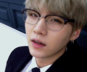 gif, glasses, and agust d image