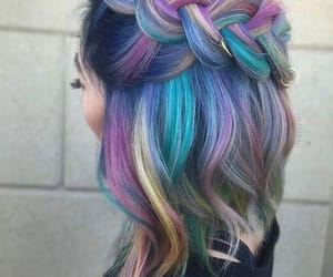 hair, hairstyles, and pastelcolours image
