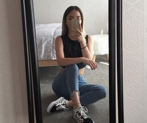 vans, girl, and outfit image