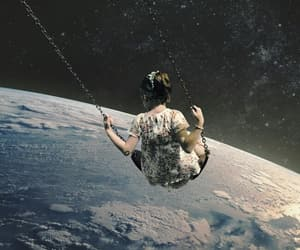 girl, space, and art image