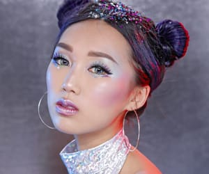 glitter, hairstyles, and makeup image