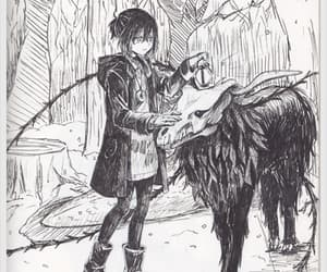 anime, anime girl, and pencil drawing image