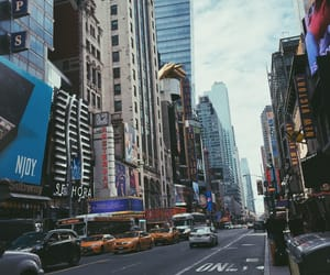 new york, nyc, and times square image