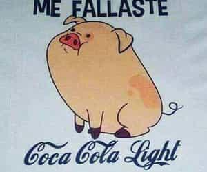 coca cola, memes, and cerdito image