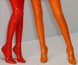 fashion, orange, and red image