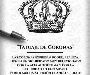 corona, tattoo, and tatauje image