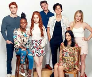 cole sprouse, riverdale, and madelaine petsch image