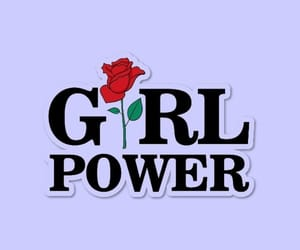 girl, rose, and power image