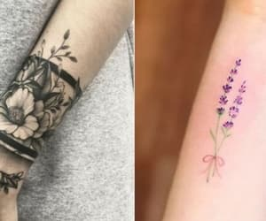 flores, tattos, and tatuajes image