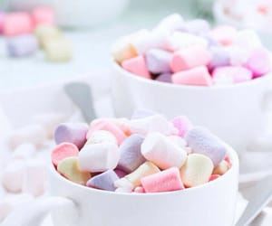 marshmallow, pastel, and sweets image