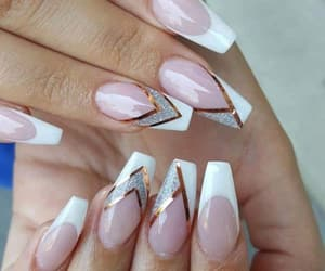 beautiful, nails, and french manucure image