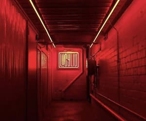 neon, neon lights, and red image