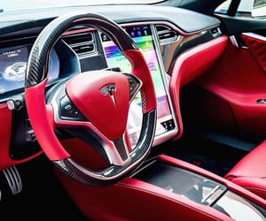 car, interior, and red image