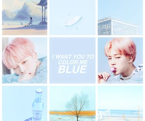 blue, jin, and kpop image