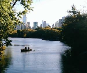 boat, Central Park, and nature image