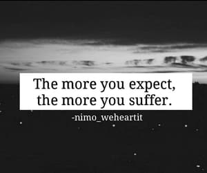 black and white, expect, and hurt image