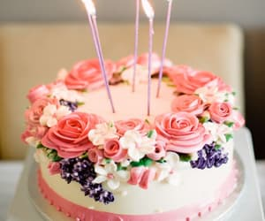 cake, birthday, and delicious image