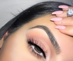 brown eyes, eyes, and makeup image