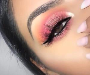 brown eyes, eye liner, and eyes image