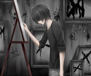 boy, anime, and sad image