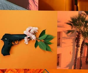 aesthetic, papel de parede, and laranja image