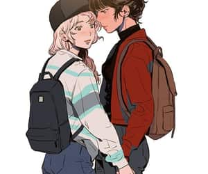 couple, art drawing, and love image