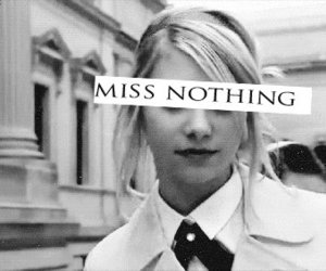 black and white and miss nothing image