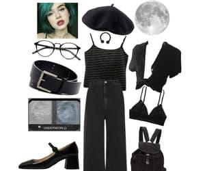 alternative, beret, and black image