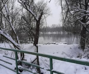 nature, river, and snow image