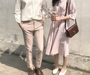 aesthetic, couple, and kfashion image