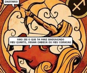 bagunça, sagitário, and zodíaco image