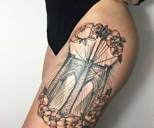 flower, tattoo, and brige image