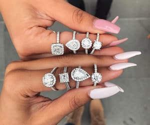 nails, rings, and diamond image