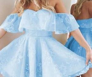 beauty, formal dress, and off shoulder prom dress image