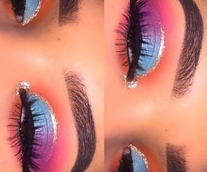colors, eyebrows, and makeup image