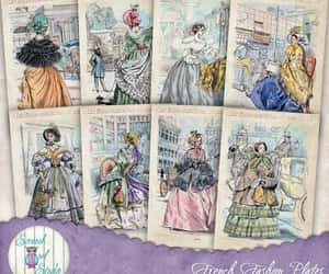 etsy, gift tags, and vintage fashion image