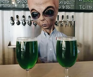 alien, beer, and galaxia image