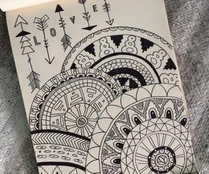 art, b&w, and calligraphy image