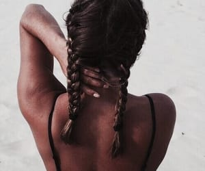 braids, girly, and summer image