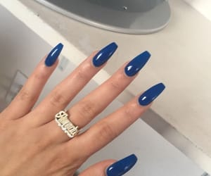 royal blue and nails image