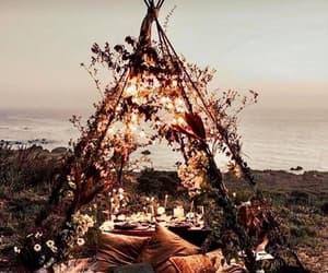 beach, hut, and photograph image